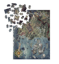 Image: Witcher 3: Wild Hunt Witcher World Map Deluxe Puzzle  - Dark Horse Comics