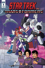 Image: Star Trek vs. Transformers #1 (incentive cover - Ganucheau) (10-copy) - IDW Publishing