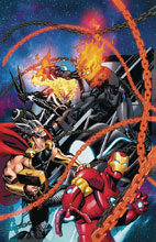 Image: Avengers #8 (variant Cosmic Ghost Rider cover - McKone) - Marvel Comics
