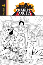 Image: Charlie's Angels #4 (incentive cover - Eisma B&W) (10-copy) - Dynamite