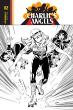 Image: Charlie's Angels #4 (incentive cover - Cifuentes B&W) (20-copy) - Dynamite