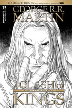 Image: George R. R. Martin's A Clash of Kings #15 (incentive cover - Miller B&W) (10-copy) - Dynamite