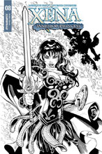 Image: Xena: Warrior Princess Vol. 02 #8 (incentive cover - Cifuentes B&W) (10-copy) - Dynamite