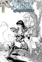 Image: Xena: Warrior Princess Vol. 02 #8 (incentive cover - Cifuentes B&W) (25-copy) - Dynamite