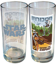 Image: Star Wars Retro Road Trip Glass: Endor  (15 ounce) - iCup Inc.