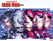 Image: Tony Stark: Iron Man #16 (variant Immortal cover - Nick Bradshaw) - Marvel Comics