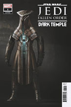 Image: Star Wars Jedi: Fallen Order - Dark Temple #1 (1:10 incentive Game cover) - Marvel Comics