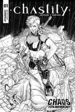 Image: Chastity Vol. 02 #1 (incentive cover - Bradshaw B&W) (20-copy) - Dynamite