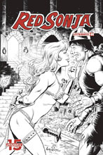Image: Red Sonja Vol. 05 #8 (incentive cover - Pepoy B&W) (50-copy) - Dynamite
