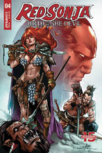 Image: Red Sonja: Birth of the She-Devil #4 (cover B - Davila) - Dynamite