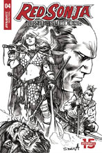 Image: Red Sonja: Birth of the She-Devil #4 (incentive cover - Davila B&W) (20-copy) - Dynamite