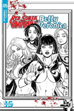 Image: Red Sonja and Vampirella Meet Betty and Veronica #5 (incentive cover - Braga B&W) (20-copy)  [2019] - Dynamite