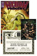 Image: Widow Progeny #3 (variant Psycho 70s cover - Karl Moline) - American Mythology Productions