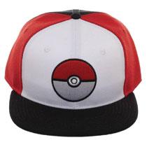 99262b76b986e8 Image: Pokemon Pokeball Colorblock Snapback Cap - Bioworld Merchandising