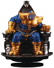 Image: Marvel Fine Art Statue: Thanos On Space Throne  - Kotobukiya