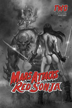 Image: Mars Attacks / Red Sonja #2 (incentive 1:10 cover - Parrillo B&W) - Dynamite