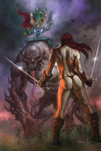 Image: Mars Attacks / Red Sonja #2 (variant cover - Parrillo virgin) - Dynamite