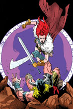 Image: Red Sonja #19 (incentive 1:10 cover - Peeples Homage Virgin) - Dynamite