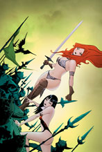 Image: Vampirella / Red Sonja #11 (variant cover - Lee virgin) - Dynamite