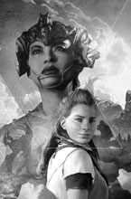 Image: Horizon Zero Dawn #2 (cover D incentive 1:25 - Artgerm B&W Virgin) - Titan Comics