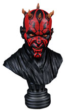 Image: Star Wars Legends in 3-Dimensions 1/2 Scale Resin Bust: Darth Maul  - Diamond Select Toys LLC