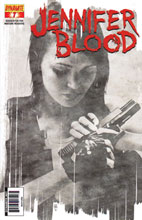 Image: Garth Ennis' Jennifer Blood #7 (10-copy Bradstreet B&W incentive cover) (v10) - Dynamite