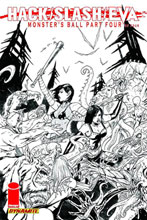 Image: Hack Slash: EVA Monsters Ball #4 (10-copy Seeley B&W incentive cover) (v10) - Dynamite
