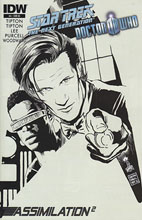 Image: Star Trek: TNG / Doctor Who - Assimilation #4 (10-copy incentive cover) - IDW Publishing