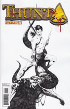 Image: Thun'da #1 (15-copy Lee B&W incentive cover) (v15) - D. E./Dynamite Entertainment