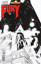 Image: Miss Fury #5 (25-copy Tan B&W incentive cover) - Dynamite