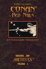 Image: Conan Red Nails Original Art Archives HC  - Genesis West