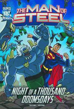 Image: DC Super Heroes Man of Steel Yng. Readers: Night of a Thousand Doomsdays SC  - Capstone Press