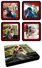 Image: Game of Thrones Coaster Set: Daenerys Targaryen  - Dark Horse Comics