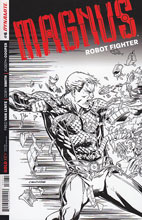Image: Magnus: Robot Fighter #6 (variant incentive cover - Smith B&W) (25-copy) - Dynamite