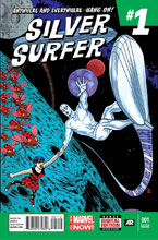 Image: Silver Surfer #1 (variant 3rd printing cover - Michael Allred) - Marvel Comics