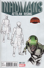 Image: Inhumans: Attilan Rising #4 (variant Design cover - Johnson) - Marvel Comics