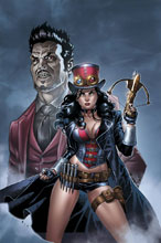 Image: Grimm Fairy Tales Presents Van Helsing vs. Dracula #1 (cover A - Ortiz) - Zenescope Entertainment Inc