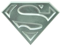 Image: Superman the Animated Series Metal Logo Bottle Opener  -