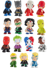 Image: DC Universe X Kid Robot Mini- Figure Series Blind Mystery Box Display  -