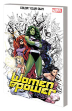 Image: Color Your Own Women of Power SC  - Marvel Comics