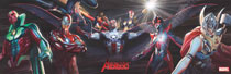 Image: Linking Avengers Covers 1-5 by Alex Ross Vinyl Poster  - Marvel Comics