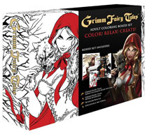 Image: Grimm Fairy Tales Adult Coloring Book Boxed Set  - Zenescope Entertainment Inc