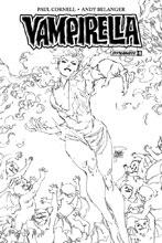 Image: Vampirella Vol. 04 #6 (Tan b&w incentive cover - 06061) (20-copy) - Dynamite