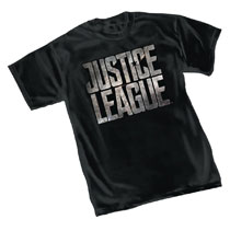 Image: Justice League Movie T-Shirt: Logo  (M) - Graphitti Designs