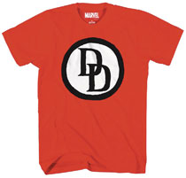 Image: Marvel T-Shirt: Daredevil Emblem [Red]  (XXL) - Mad Engine
