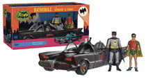 Image: Batman Classic TV Series Batmobile with Batman & Robin Fully Poseable Action Figure  - Funko