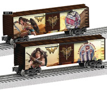 Image: Wonder Woman Movie Train Boxcar  - Lionel Nascar Collectibles