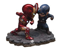 Image: Captain America: Civil War EA-025 Statue - Cap vs. Iron Man  - Beast Kingdom