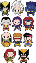 Image: Marvel X-Men Laser Cut Figural Keyring 24-Piece Blind Mystery Box Display  - Monogram Products