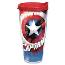Image: Tervis Marvel Tumbler: Captain America  (24-ounce) (w/Lid) - Tervis Tumbler Co.
